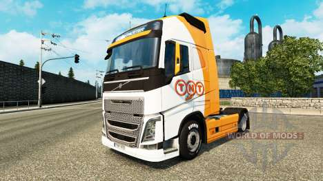 TNT skin for Volvo truck for Euro Truck Simulator 2