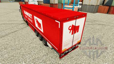 Mammoet skin for trailers for Euro Truck Simulator 2