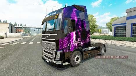 Purple Tiger skin for Volvo truck for Euro Truck Simulator 2