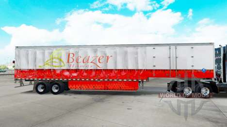 Skin Beazer Homes on a curtain semi-trailer for American Truck Simulator