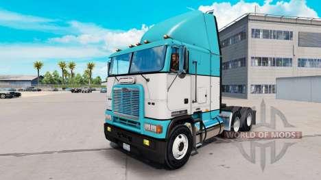 Skin Baby Blue truck Freightliner FLB for American Truck Simulator