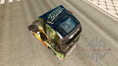 Zubr skin for Volvo truck for Euro Truck Simulator 2