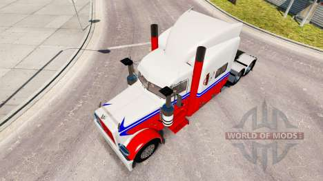 Ferrero Kinderriegel skin for the truck Peterbil for American Truck Simulator