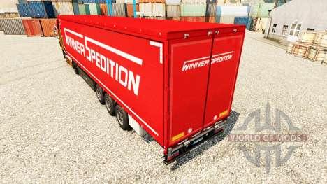 Winner Spedition skin for trailers for Euro Truck Simulator 2