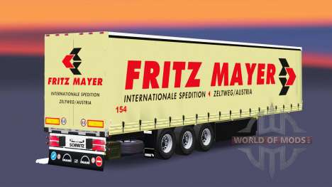Curtain semi-trailer Schmitz Fritz Mayer for Euro Truck Simulator 2