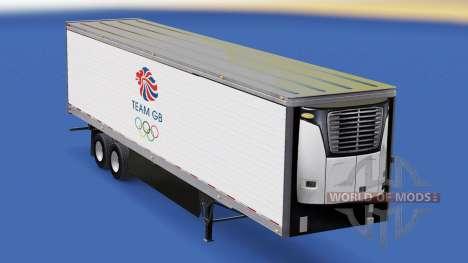 Skin Team GB on refrigerated semi-trailer for American Truck Simulator