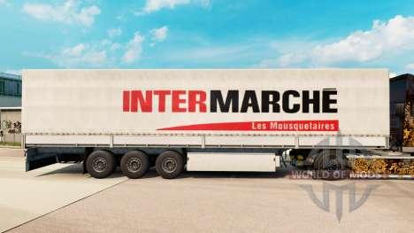 Intermarche skin for trailers for Euro Truck Simulator 2