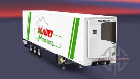 Semitrailer reefer EN Maury Primeurs for Euro Truck Simulator 2