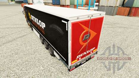 Skin on Dunlop semi for Euro Truck Simulator 2