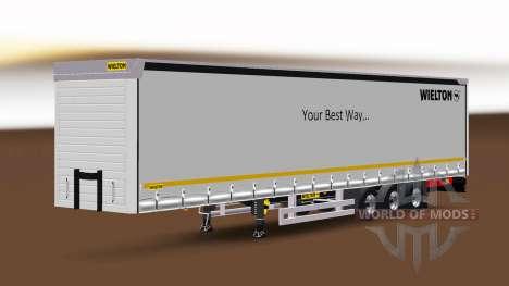 Curtain semi-trailer Wielton v1.1 for Euro Truck Simulator 2