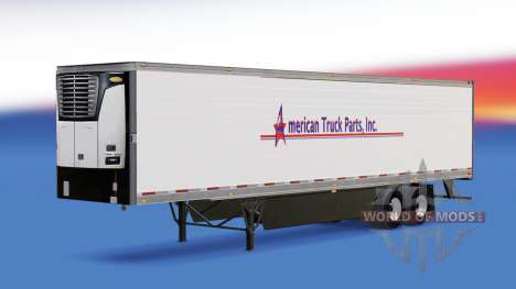 Skin American Truck Parts Inc. on the trailer for American Truck Simulator