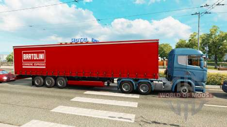 Skins for semi-trailers in the traffic v0.1 for Euro Truck Simulator 2
