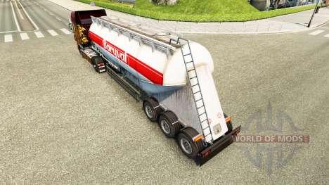 Skin Baryval semi-trailer, cement for Euro Truck Simulator 2