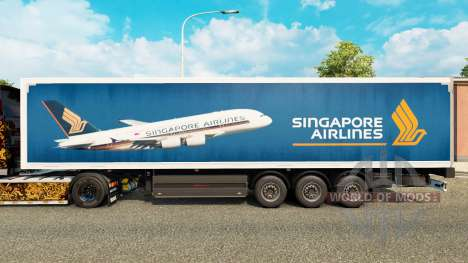 Singapore Airlines skin for trailers for Euro Truck Simulator 2