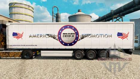Skin American Truck Promotion for trailers for Euro Truck Simulator 2