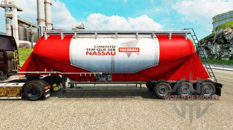 Skin Nara cement semi-trailer for Euro Truck Simulator 2