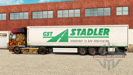 Skin GST Stadler on a curtain semi-trailer for Euro Truck Simulator 2