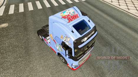 Skin Tom & Jerry for Volvo truck for Euro Truck Simulator 2
