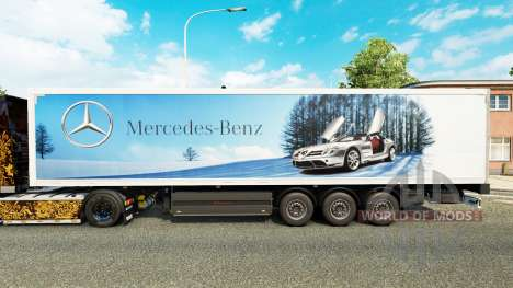 Skin Mercedes-Benz semi-trailers for Euro Truck Simulator 2
