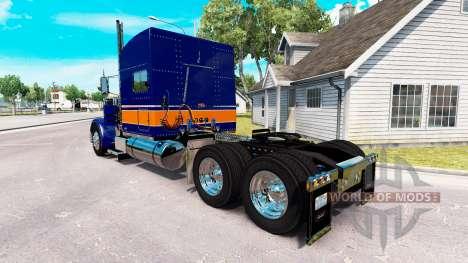Скин Rollin Transport v1.1 на Peterbilt 389 for American Truck Simulator
