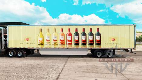 Skin E & J Gallo Winery in the extended trailer for American Truck Simulator