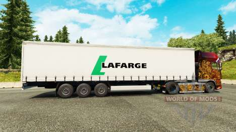 Lafarge skin for trailers for Euro Truck Simulator 2
