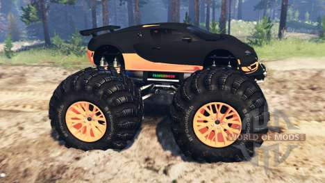 Bugatti Veyron SS [monster truck] for Spin Tires