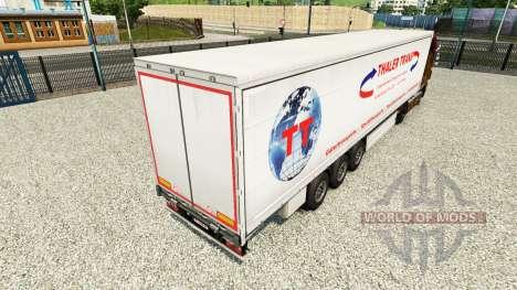 Skin Thaler Trans on a curtain semi-trailer for Euro Truck Simulator 2