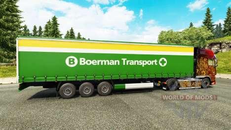 Skin Boerman Transport on semi-trailers for Euro Truck Simulator 2