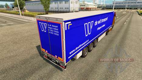 Skin De Wit Transport on semi-trailers for Euro Truck Simulator 2