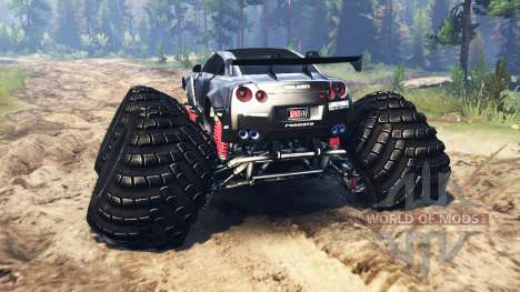 Nissan GT-R (R35) [monster truck] for Spin Tires