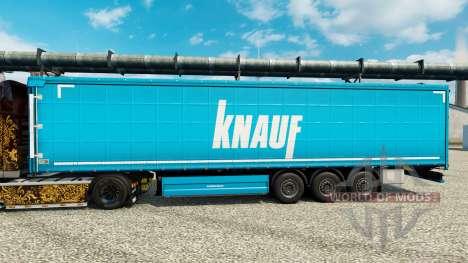 Skin Knauf on semi for Euro Truck Simulator 2