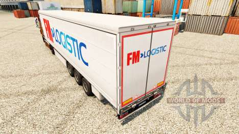 Skin FM Logistic in the semi for Euro Truck Simulator 2