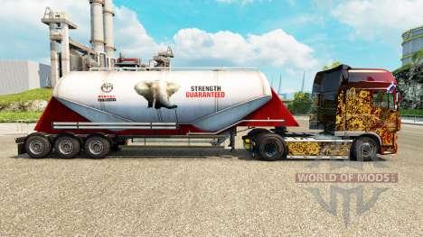 Skin PPC Ltd. cement semi-trailer for Euro Truck Simulator 2