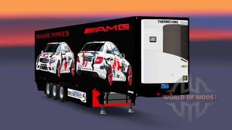 The semitrailer-the refrigerator AMG Power for Euro Truck Simulator 2