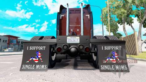 Mudguards I Support Single Moms v2.0 for American Truck Simulator