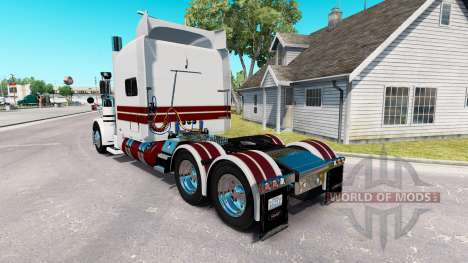 The White Knight skin for the truck Peterbilt 389 for American Truck Simulator