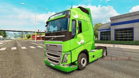 Bring skin for Volvo truck for Euro Truck Simulator 2