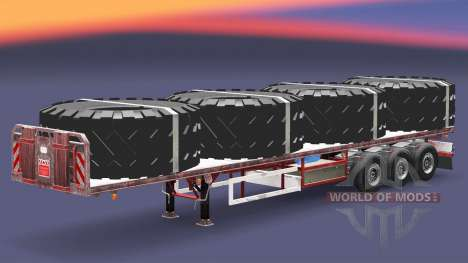 The semitrailer-platform with loads v3.2 for Euro Truck Simulator 2