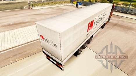 Skin FM Logistic in the semi for Euro Truck Simulator 2