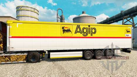 Skin Agip for trailers for Euro Truck Simulator 2