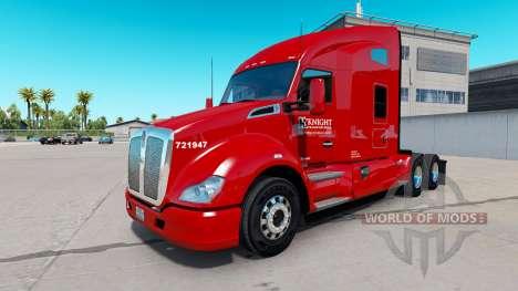Скин Knight Transportation на Kenworth T680 for American Truck Simulator