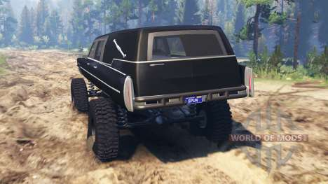 Cadillac Hearse 1975 [monster] for Spin Tires