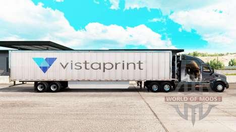 Skin Vistaprint extended trailer for American Truck Simulator
