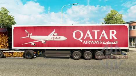 The Qatar Airways skin for trailers for Euro Truck Simulator 2