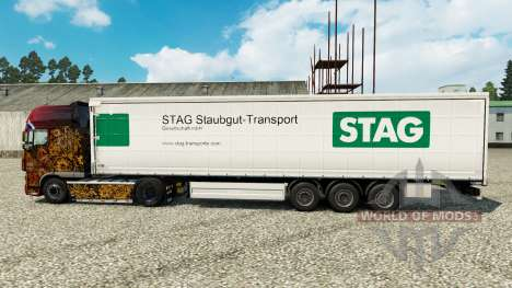 Skin Stag Staubgut Transport on semi-trailers for Euro Truck Simulator 2