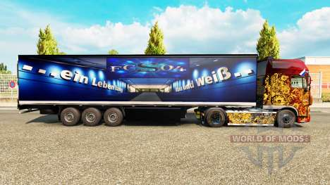 Skin FC Schalke 04 on semi for Euro Truck Simulator 2