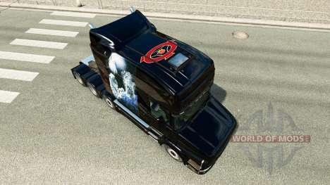White Cheetah skin for truck Scania T for Euro Truck Simulator 2