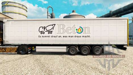 Skin Beton on semi for Euro Truck Simulator 2