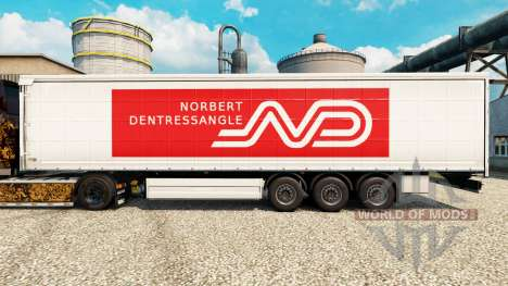 Norbert Dentressangle skin for trailers for Euro Truck Simulator 2